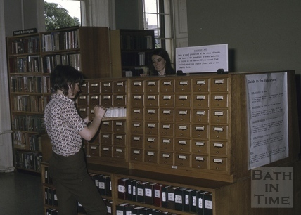 Reference Library, Queen Square, Bath 1971
