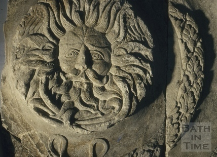 Gorgon's Head, Roman Bath, Bath 1956