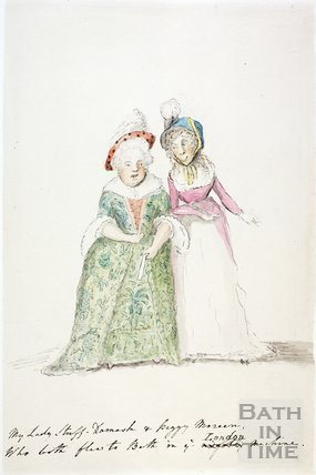 Watercolour sketch for Anstey's Bath Guide No. 46 c.1815