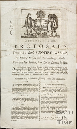 Proposals from the Bath Sun-Fire Office 1776