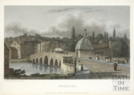 The Town Bridge, Bradford on Avon 1830