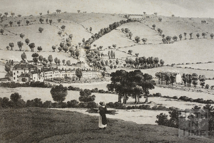 A Panoramic View of Bath from Beechen Cliff 1824 - detail