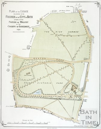 Plan of the Estate belonging to the Freemen of the City of Bath 1875