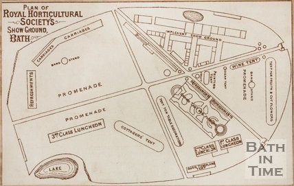 Plan of Royal Horticultural Showground, Victoria Park 1873