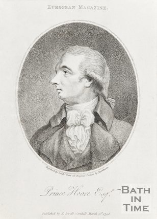 Portrait From European Magazine of Prince Hoare Esq. February 1798