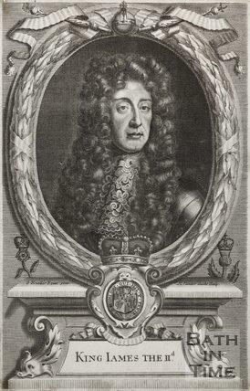 Engraving King James II