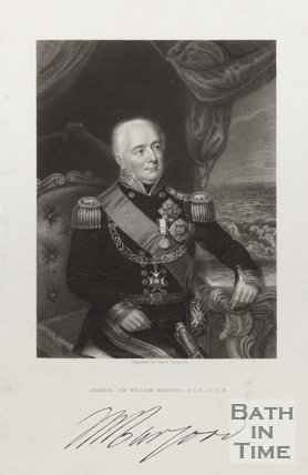Engraving of Admiral Sir William Hargood G.C.B, G.C.H and Signature