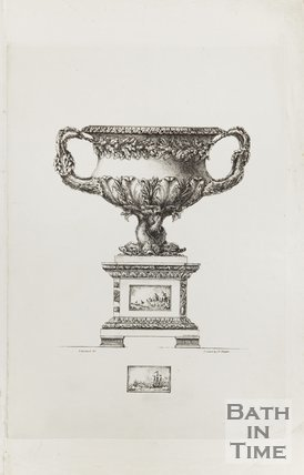 Engraving of vase gifted to Captain Parry