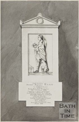 Watercolour of Tomb of Johannes Sibthorp M.D. R.S.S. 30th October 1800