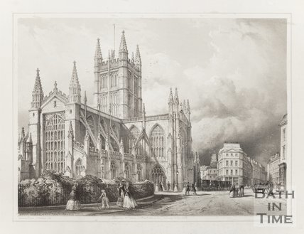 Abbey Church Bath from the Orange Grove 1850