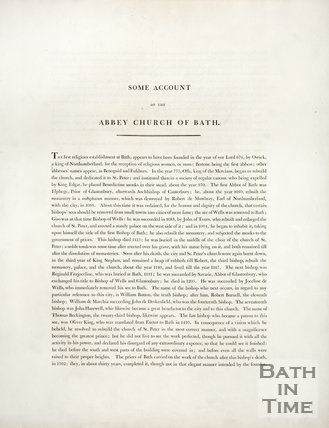 Some account of the Abbey Church at Bath