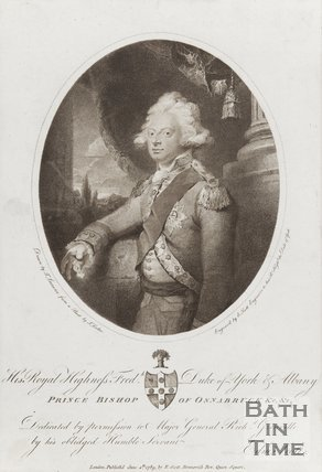 Portrait of His Royal Highness Frederick Duke of York and Albany Prince Bishop of Osnobruck