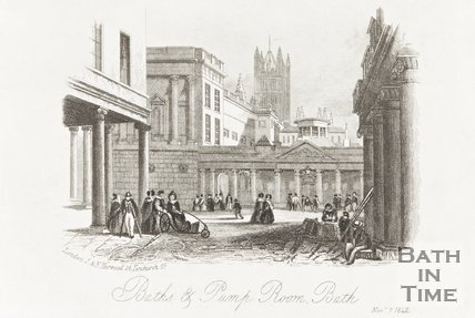 Baths and Pump Rooms, Bath November 7th 1842