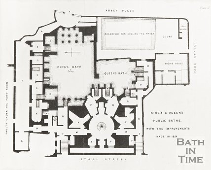 Plan 2 of the King and Queens Public Baths with the improvements made in 1854