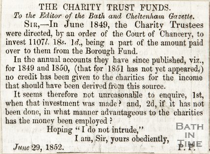Letter to the Editor The Charity Trust Funds June 29th 1852