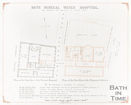 Architectural Plan of Bath Mineral Water Hospital
