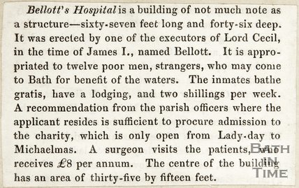 Bellotts Hospital, The story behind the name