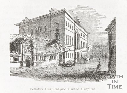 Bellotts Hospital and United Hospital, Beau Street, Bath 1845