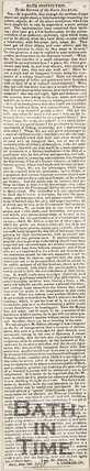 Letter to the Editor of Bath Journal by A. Looker-on 1825