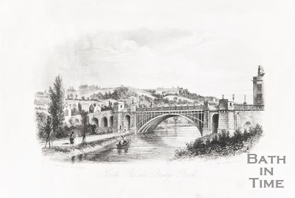 North Parade Bridge Bath 1840