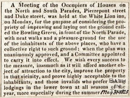 Meeting of the occupiers of houses of the North and South Parades, May 31th 1825