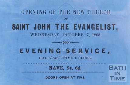 Ticket for the opening of New Church of St. John the Evangelist