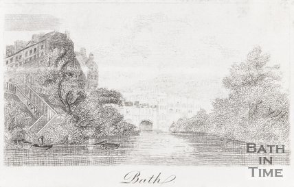 View at Bath, Showing the South Parade Ferry and Pulteney Bridge, Bath 1820
