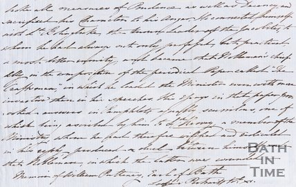 Handwritten account political dealings and advancement of Sir William Pulteney verso
