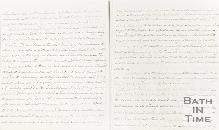 Letter to Taylor, Sydney Place, Saturday Night, May 14th 1836 verso