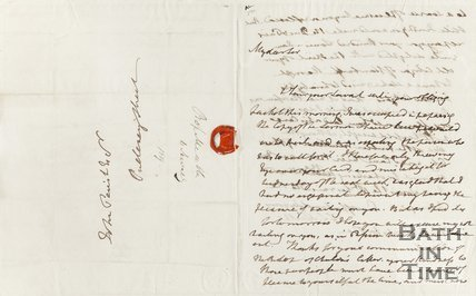 Letter addressed to John Parish Esquire, Pulteney Street 1819