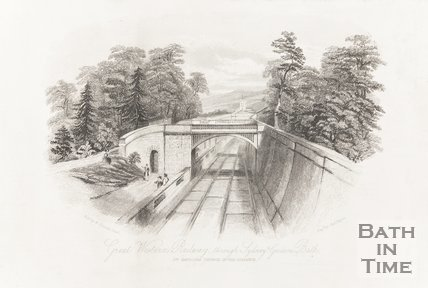 Great Western Railway through Sydney Gardens, Bath, 1844