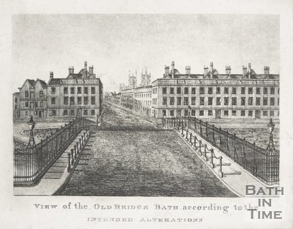 View of the Old Bridge Bath according to the intended alterations in May 1810