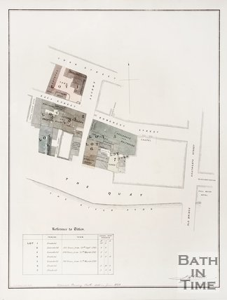Plan of plots for sale by Broad Quay, June 1850