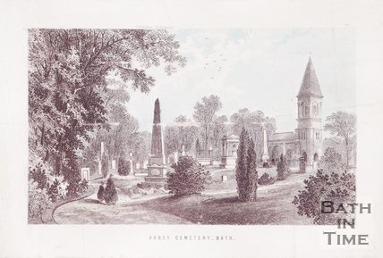 Abbey Cemetery, Lyncombe Bath. c.1860.
