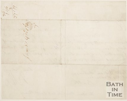 Handwritten letter from Ralph Allen to Mr William Robinson. March 9 1743.