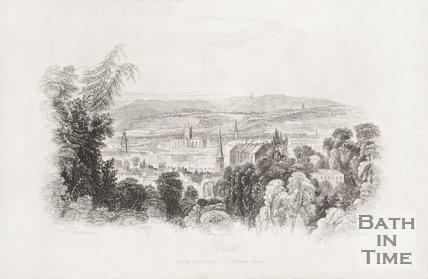 Bath from the vicinity of Prior Park 1844.