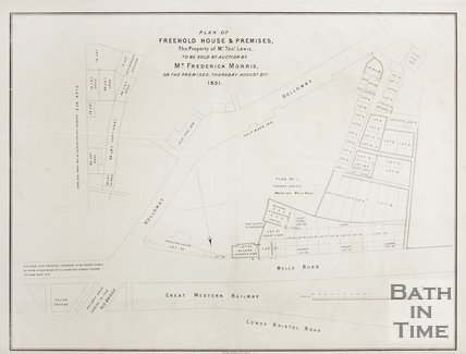 Plan of Freehold House and Premises (Wells Road, Holloway) 1851