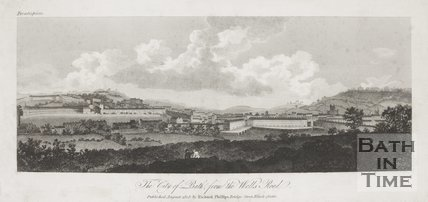 The City of Bath from the Wells Road 1808