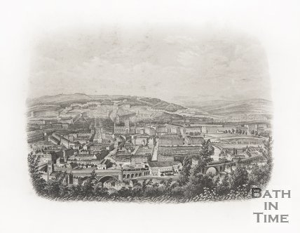 Bath from Beechen Cliff c.1886