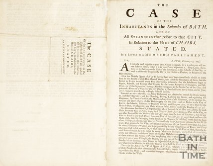Pamphlet concerning an Act amending the roads going in and out the city of Bath, 1738