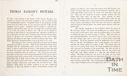 Extract 3 of 4. A leaflet entitled Memoranda Relative to the Original and Celebrated Picture of The Woodman 1846.