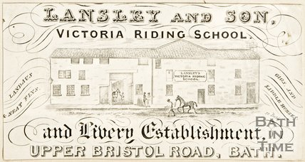 An advertisement for Lansley and Son, Victoria Riding School.
