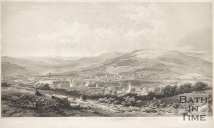 View of Bath from Sham Castle, 1850