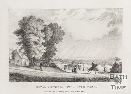 Views in the Bath Park c.1835.