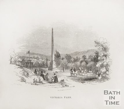 Victoria Park showing the obelisk 1848.