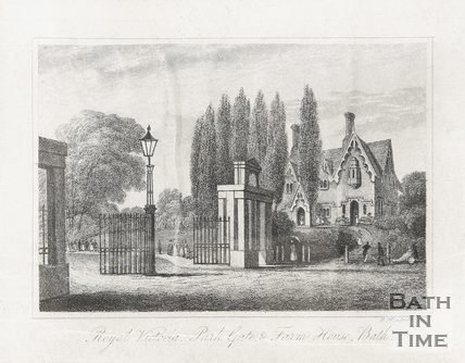 Royal Victoria Park Gate, & Farm House 1839