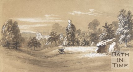 Charcoal and chalk drawing of Royal Victoria Park