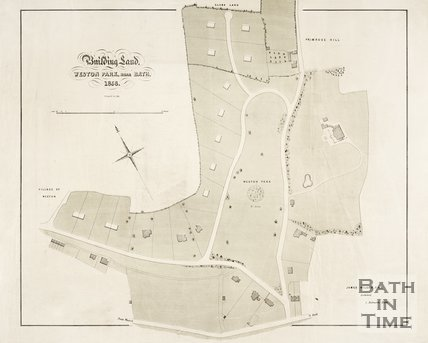 Plan of building land Weston Park, near Bath, 1856.