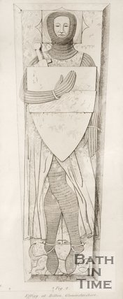 A diagram of the effigy at Bitton, Gloucestershire.