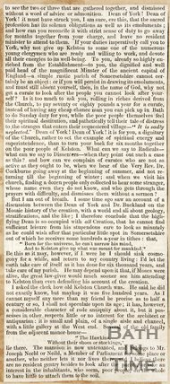 Newspaper article entitled 'The church goers rural rides or cause of county churches' 1846.